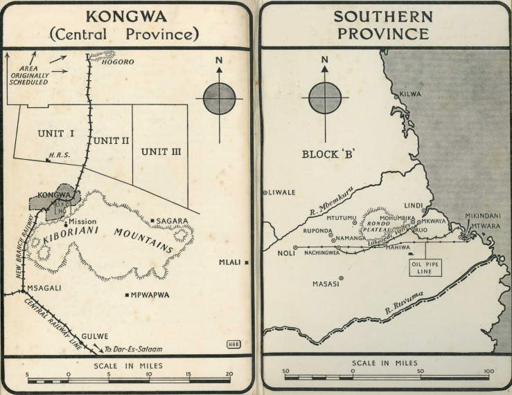 Maps from Wood 1950